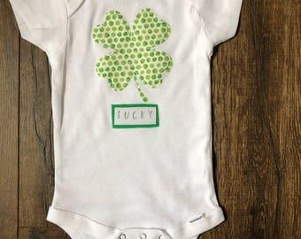 Lucky Infant Baby Bodysuit Onesie   St. Patrick's Day