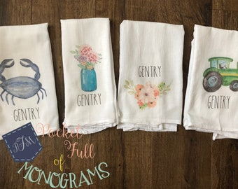 Personalized Tea Towels | You Pick Design