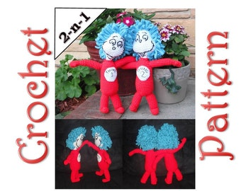 Thing 1 & 2 A 2-in-1 Crochet Pattern by Erin Scull