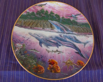 Plate  Collectors - Underwater Paradise Series by Robert Lyn Nelson California Spirits Limited edition 75 firing days Danbury Mint