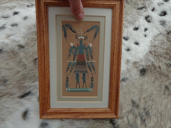 Yei Bechai Sand Painting Signed R Begay Vintage Native Etsy