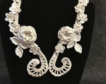 Handcrafted Irish Crochet necklace
