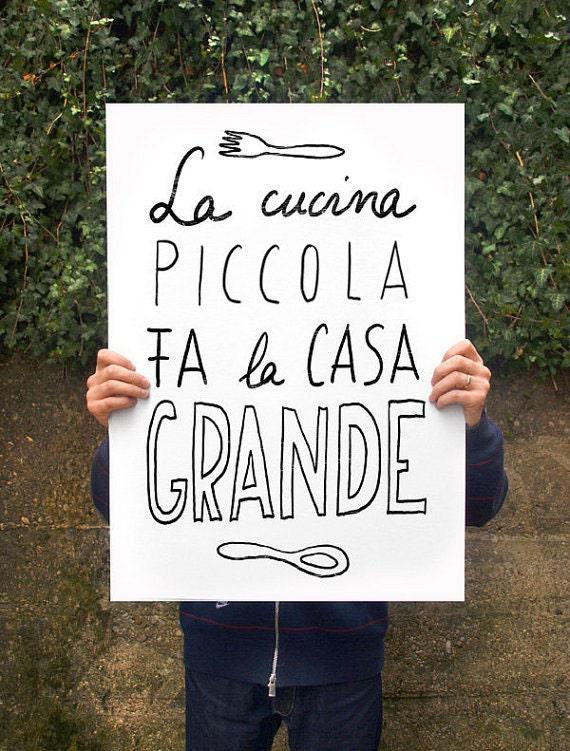 Cucina picolla Anek poster print 20x27 archival | Etsy