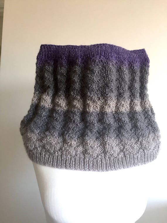 Knitting Pattern Easy Cowl Etsy