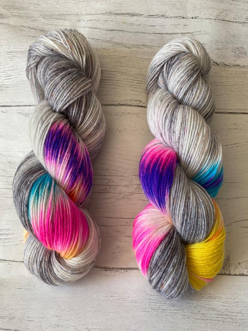 sock yarn hand dyed 100g skien