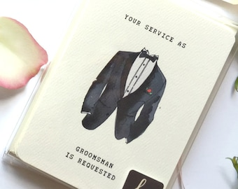 will you be my groomsman card printable best man proposal etsy