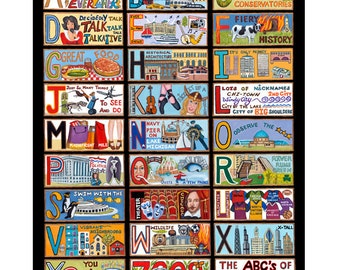 The ABC's of Chicago Poster