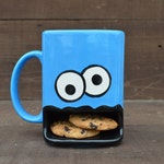 Googly Eyed Monster Dunk Mug - Ceramic Cookie and Milk Mug