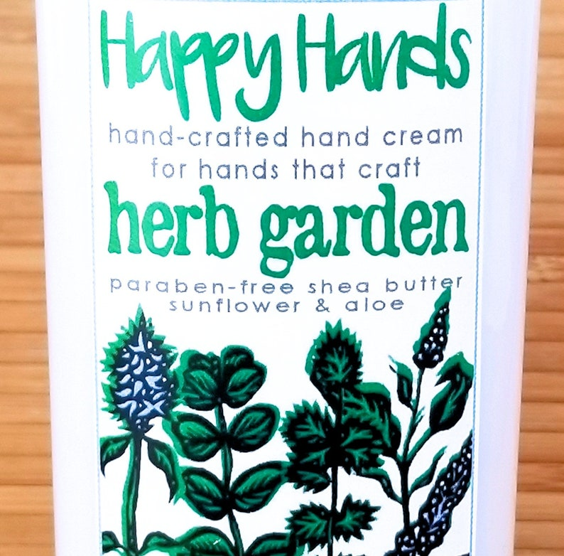 Scented Shea Butter Hand Cream  Fresh Herb Garden Fragrance  image 0