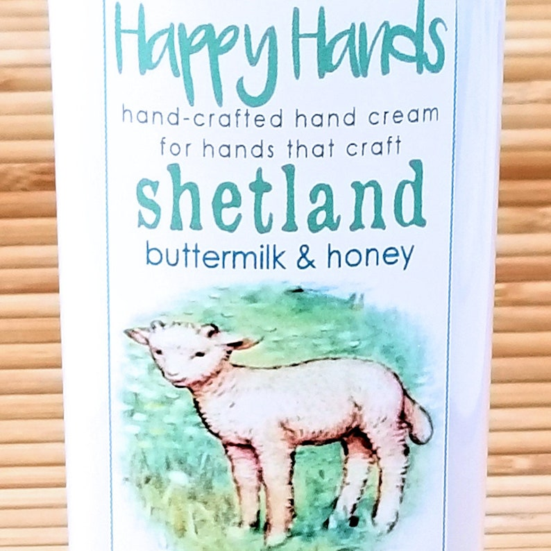 Scented Shea Butter Hand Cream  Shetland Buttermilk and Honey image 0