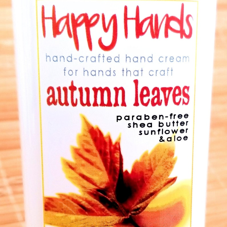 Scented Shea Butter Hand Cream  Autumn Leaves Fall Spice image 0