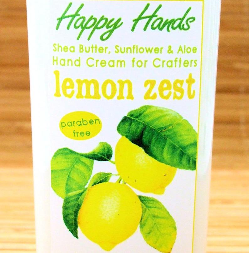 Scented Shea Butter Hand Lotion  Lemon Zest Fresh Citrus image 0