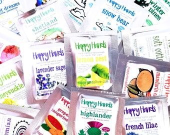 16-Scent BESTSELLERS Sampler Hand Cream Sample Set HAPPY HANDS Scented Shea Butter Hand Cream Knitters Crochet Crafters Hand Lotion