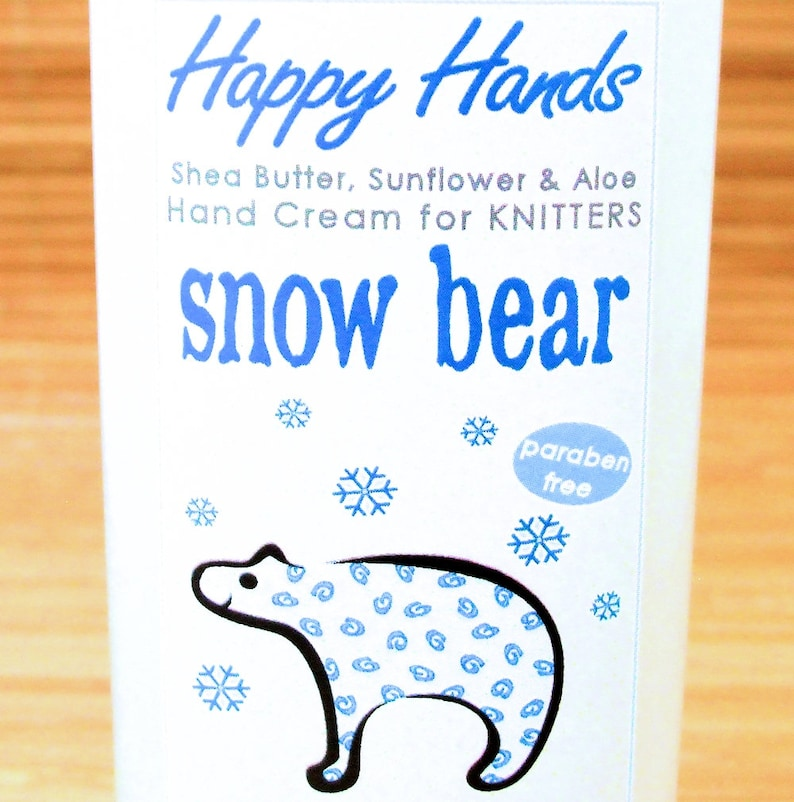 Scented Shea Butter Hand Lotion  Snow Bear Frosty Mint & Moss image 0