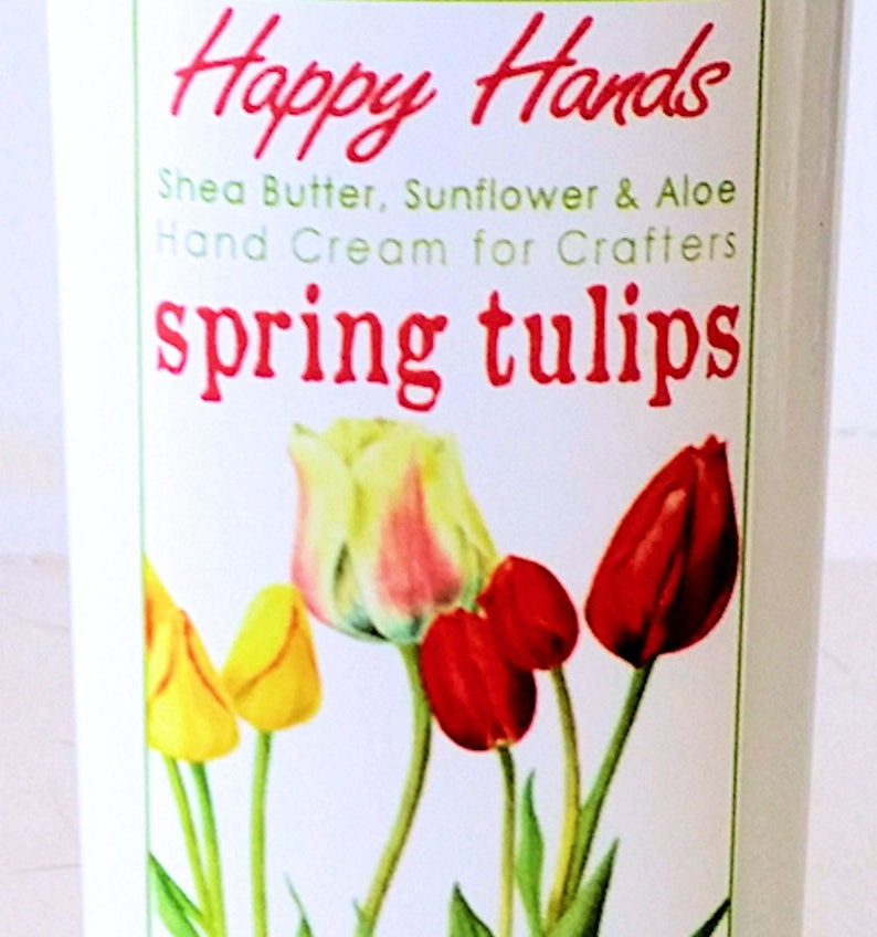 Scented Shea Butter Hand Lotion  Spring Tulips Light Floral image 0