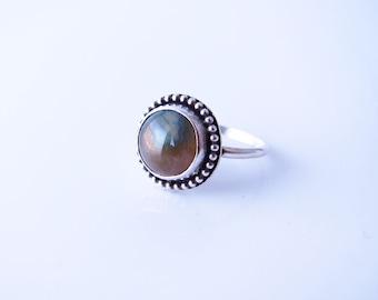Sterling Silver Ocean Jasper Ring-Size 9 -Ocean Jasper Jewelry