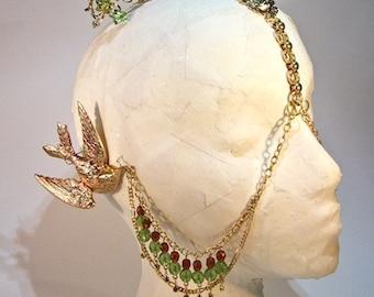 Hummingbird Earclip Goddess Carnivale Mask