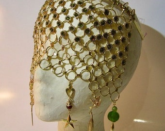 Gold Gothic Veil Carnivale Mask