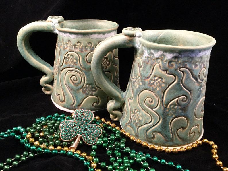 ON SALE/Celtic beer mug/Celtic beer stein/beer mug/large image 0