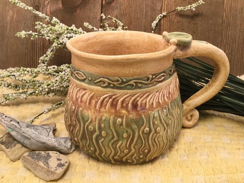 Pottery mug/earth tone mug/mug/ceramic mug/large coffee image 0