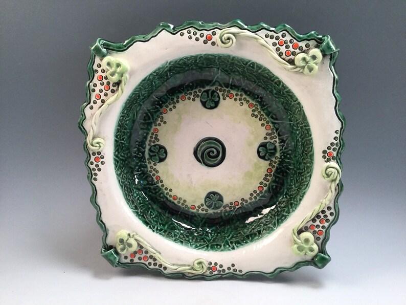 Irish pottery bowl/Irish gifts/Saint Patricks day/pottery image 0