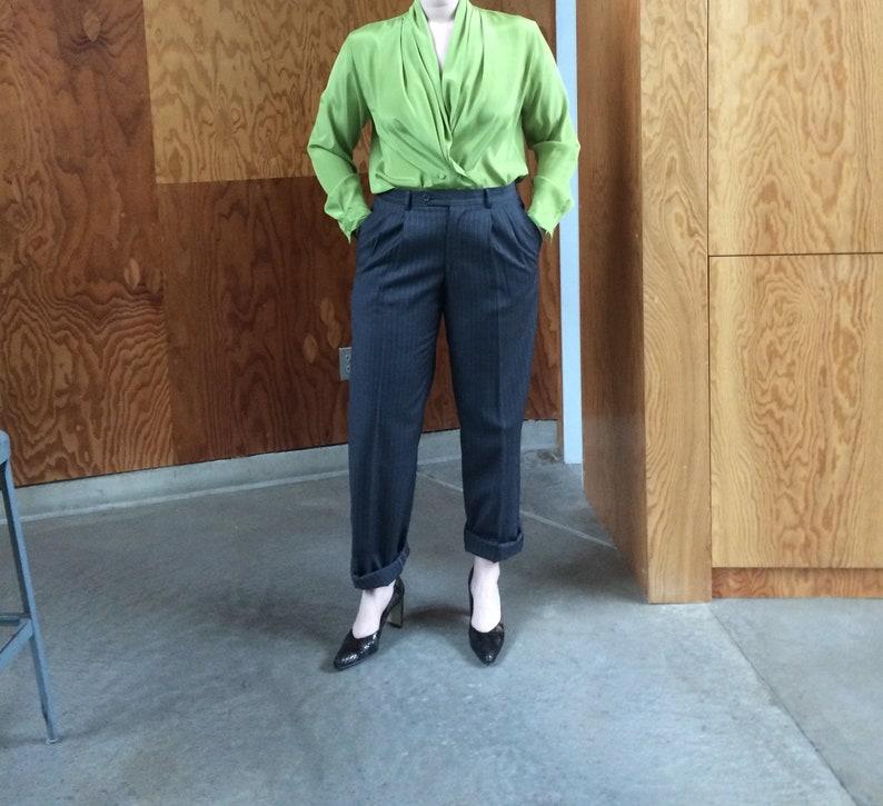 womens top minimalist deep v neckline plunging neckline 1990/'s blouse green shirt colorblock