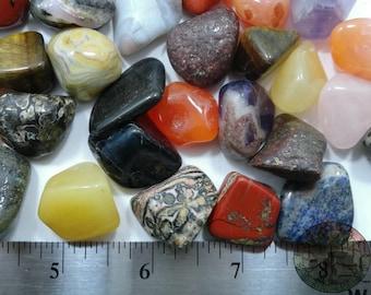 1Lb+ Natural Tumbled Mix stones