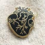 The Blackest Heart Enamel Pin anatomical nurse cardiology