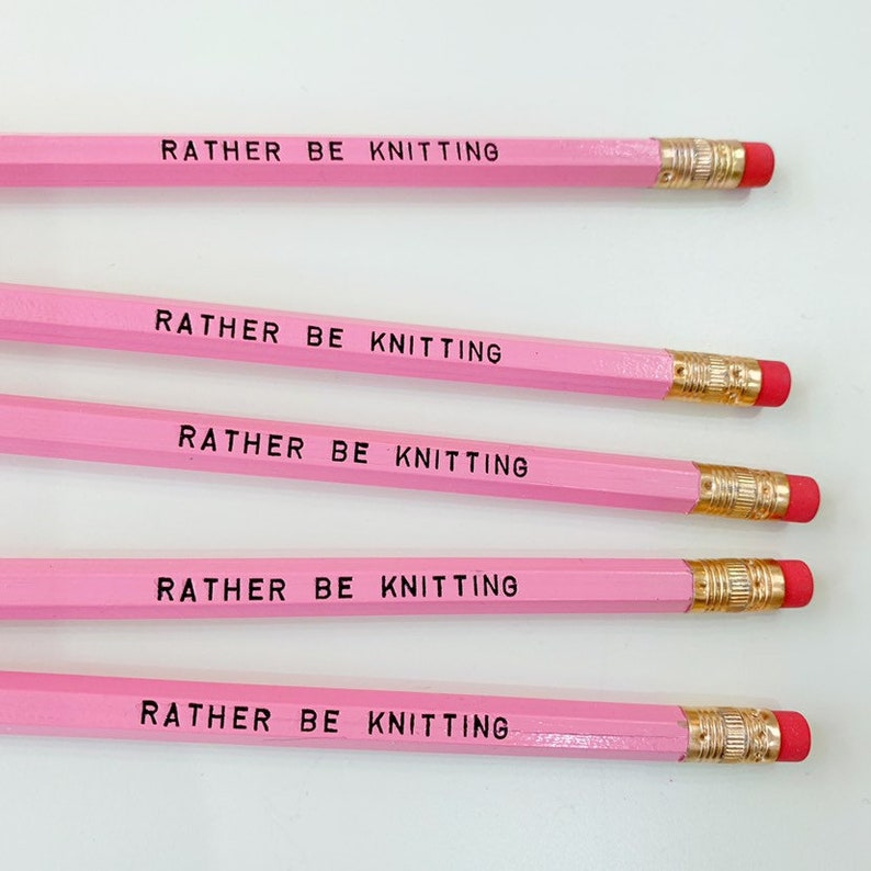 rather be Knitting Stationary pencil set image 0
