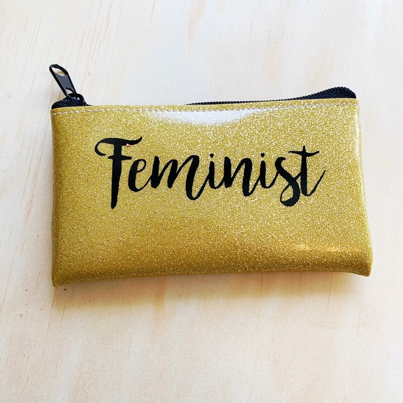 Feminist Change Purse Wallet Vegan makeup Bag image 0