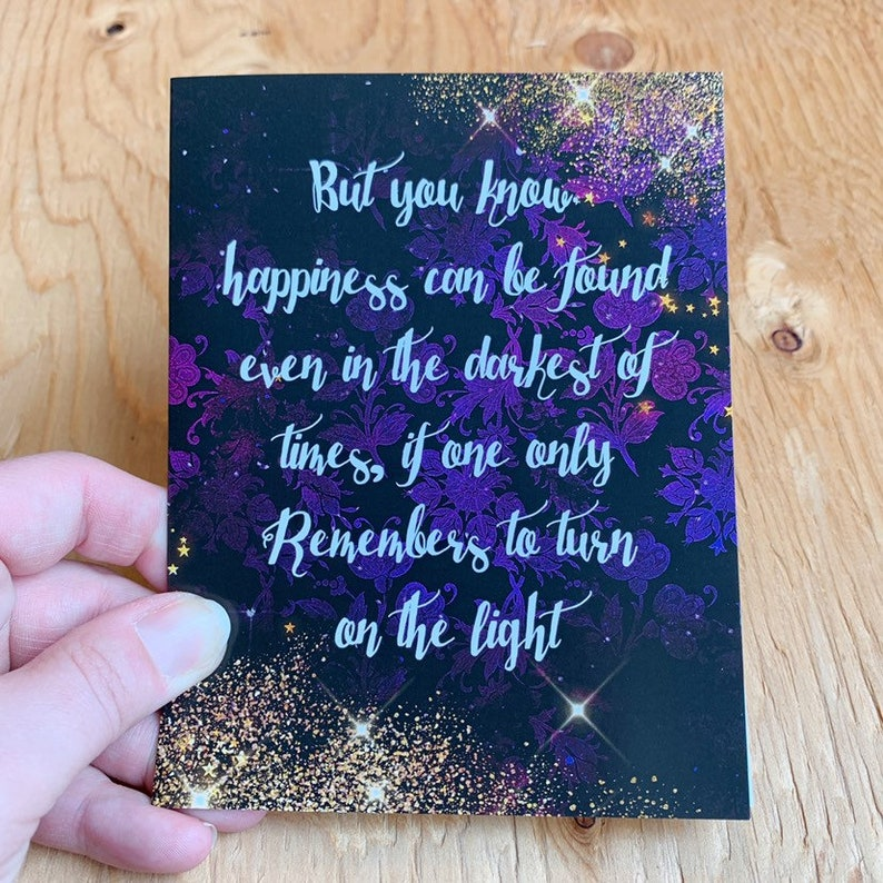 Dumbledore Quote Card Print image 0