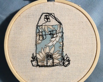 Little House Embroidery Piece