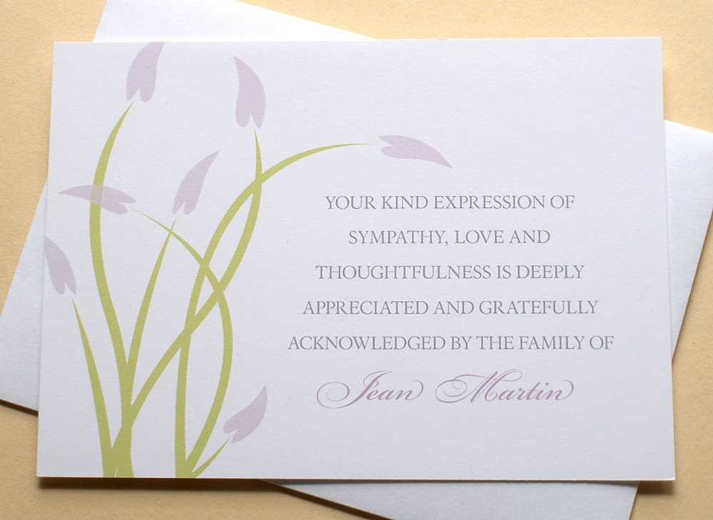 zoom - Condolence Thank You Cards