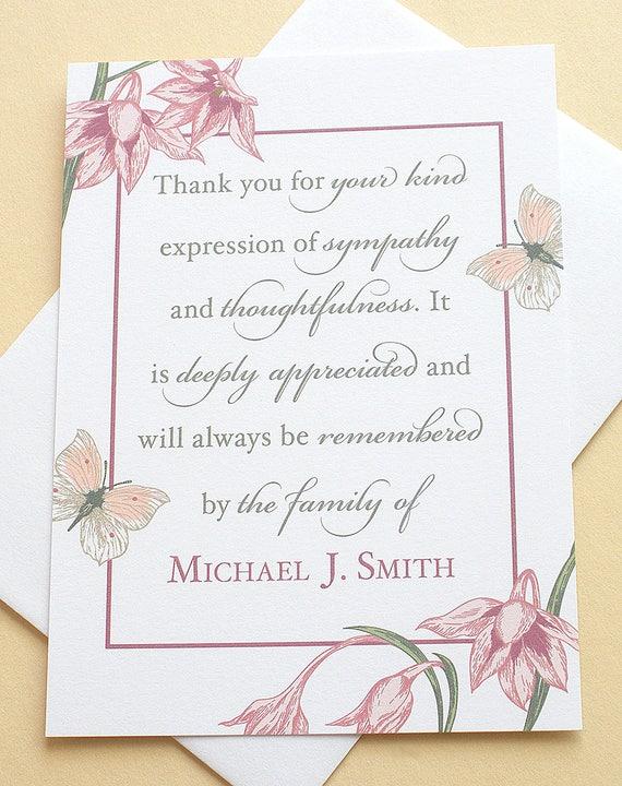 image 0 - Condolence Thank You Cards