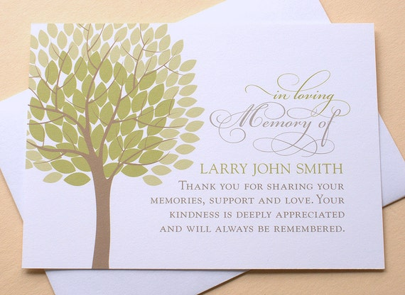 image 0 - Personalized Funeral Thank You Cards