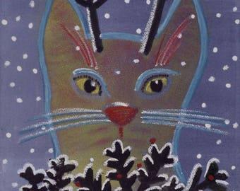 Cat Cards, any 10 handmade blank inside