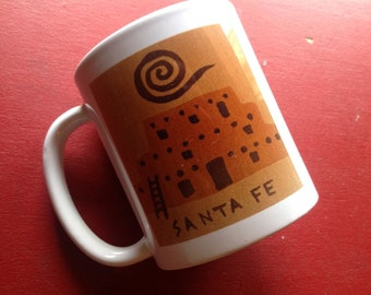 Santa Fe Adobe Mug copyright Hillary Vermont