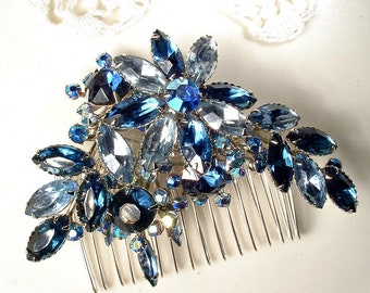 ANTIQUE BRIDAL Hair Clip Assemblage Hair 4.5 Bride Classic Pearls Old Hollywood Glam  Rhinestones Fascinator One of a Kind Bride Wedding