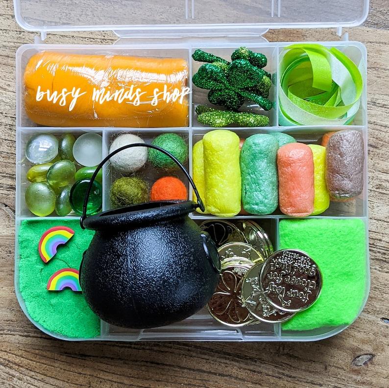 St. Patrick's Day Sensory Busy Box . Catch a Leprechaun image 0