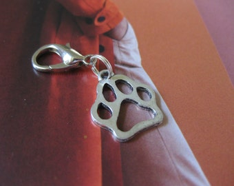 Dog Lovers Dog Paw Journal Planner Clip On Charm
