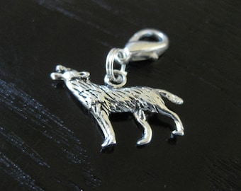 3D Wolf Journal Planner Clip On Charm