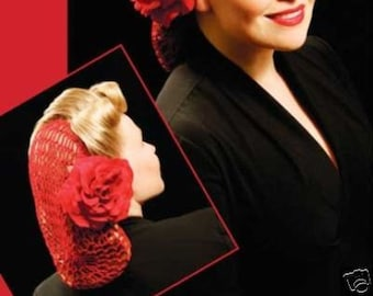 SNOOD Vintage Inspired Crocheted Hair Net Many colors to choose From New Retro Pinup Style Civil War Style Ladies 40's Factory Worker
