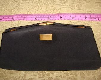 52d16246ca Black satin handbag