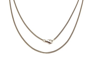 Titanium Necklace, Pure Titanium Chain Necklace for Sensitive Skin, Curb Chain, Hypoallergenic Nickel Free Necklace, Add Your Own Pendant