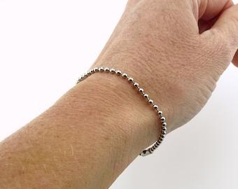 Titanium Ball Chain Bracelet for Sensitive Skin, Pure Implant Grade 1 Titanium 2.3mm Ball Chain Bracelet, Hypoallergenic Nickel Free Jewelry