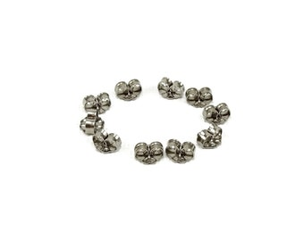 Hypoallergenic Titanium Backs, Nickel Free Clutches, Pure Titanium Stud Ear Nuts, Surgical Grade 1 Titanium Spare Post Earrings Catches