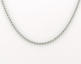 Titanium Ball Chain Necklace for Sensitive Skin, Pure Titanium 2.3 mm Ball Chain, Hypoallergenic Nickel Free Titanium, Add Your Own Pendant