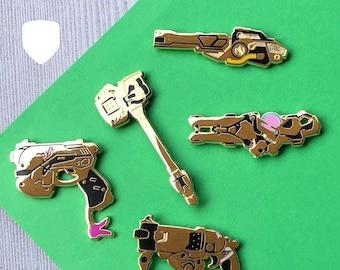 Overwatch Golden Weapon Enamel Pin - BLIND PACK Loot Box - Tank - D.Va DVa Orisa Reinhardt Roadhog Winston Zarya