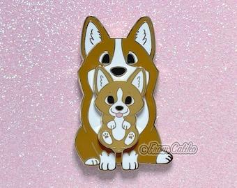 Mama Corgi Pin - Corgi Dog Hard Enamel Pin Momma Dog Mom