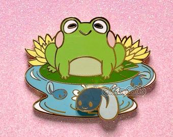 Mama Frog and Tadpole - Hard Enamel Pin Momma Frog Mom